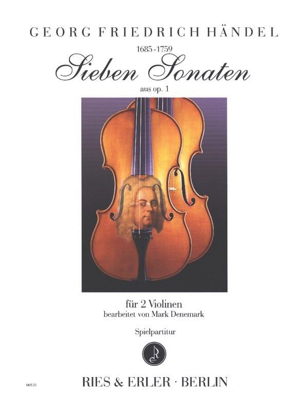 7 sonates de l'opus 1 - HAENDEL - Partition - laflutedepan.com