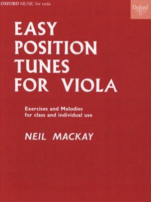 Easy position tunes for Viola Neil Mackay Partition laflutedepan