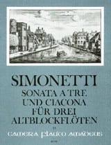 Sonata a tre e Ciacona op. 8 - 3 Altblockflöten - laflutedepan.com