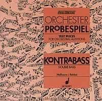 Orchester Probespiel CD - Kontrabass laflutedepan