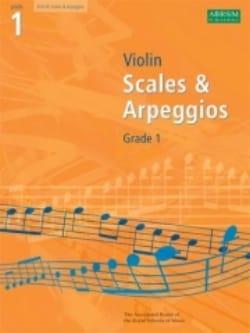 Violin Scales And Arpeggios Grade 1 - Partition - laflutedepan.com