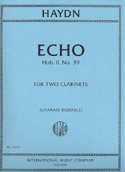 Echo Hob.2 N°39 HAYDN Partition Clarinette - laflutedepan