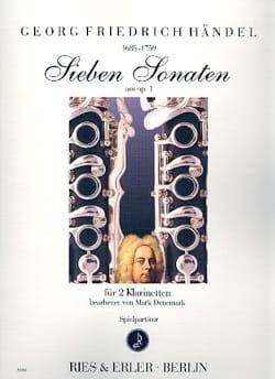7 sonates de l'opus 1 HAENDEL Partition Clarinette - laflutedepan