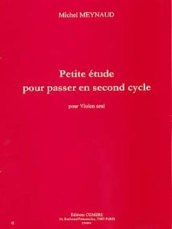 Petite étude pour passer en second cycle Michel Meynaud laflutedepan
