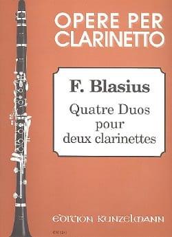 4 Duos pour 2 clarinettes Frédéric Blasius Partition laflutedepan