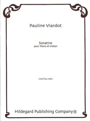 Sonatine Pauline Viardot Partition Violon - laflutedepan