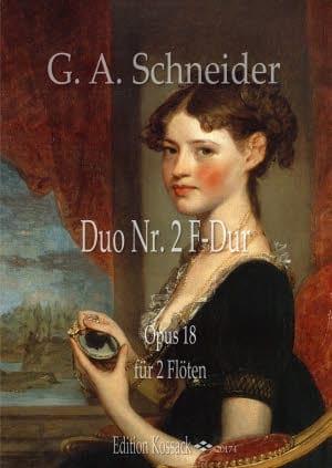 Duo n° 2 en Fa Majeur - Georg Abraham Schneider - laflutedepan.com
