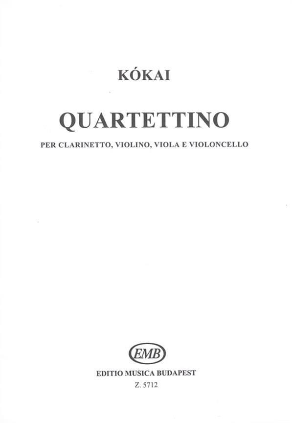 Quartettino - Reszo Kokai - Partition - Quatuors - laflutedepan.com