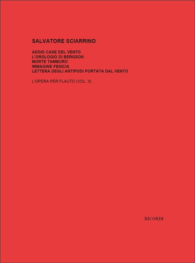 Opera Per Flauto 2 - Salvatore Sciarrino - laflutedepan.com
