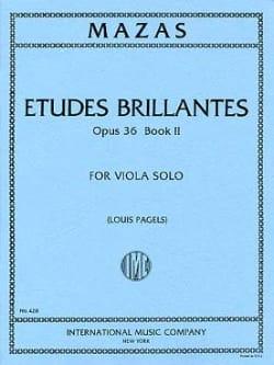 Etudes Brillantes op. 36 - Book 2 - Viola Pagels MAZAS laflutedepan