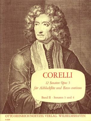 12 Sonaten op. 5 - Bd. 2 - Altblockflöte u. Bc CORELLI laflutedepan