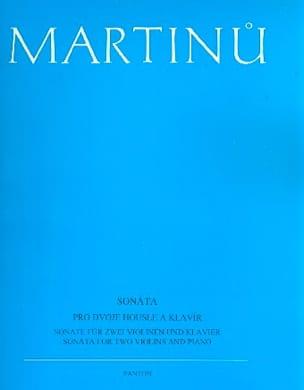 Sonate MARTINU Partition Trios - laflutedepan