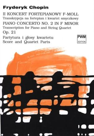 Concerto N°2 Opus 21 - Quintette CHOPIN Partition laflutedepan