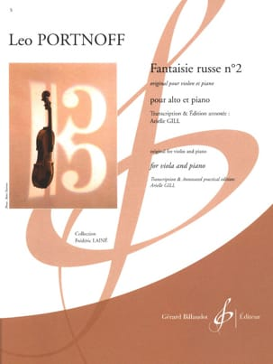 Fantaisie Russe n° 2 - Leo Portnoff - Partition - laflutedepan.com