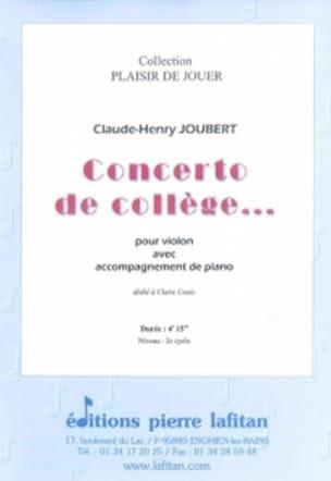 Concerto de collège... Claude-Henry Joubert Partition laflutedepan