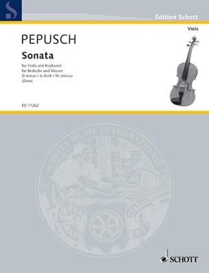 Sonata in D minor - Viola Johann Christoph Pepusch laflutedepan