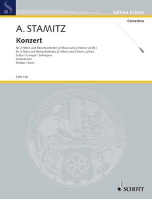 Konzert für 2 Flöten in G-Dur - Partitur STAMITZ laflutedepan