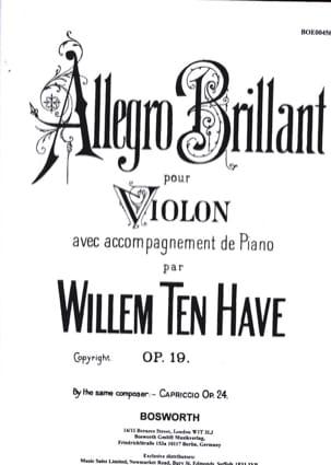 Allegro brillant op. 19 Have Willem Ten Partition laflutedepan