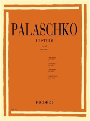 12 Studi op. 62 - Viola Johannes Palaschko Partition laflutedepan