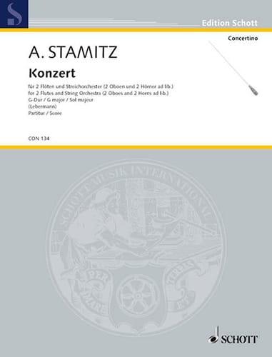 Konzert für 2 Flöten in G-Dur - Partitur - STAMITZ - laflutedepan.com