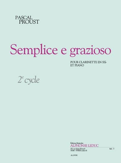 Semplice e grazioso - Pascal Proust - Partition - laflutedepan.com