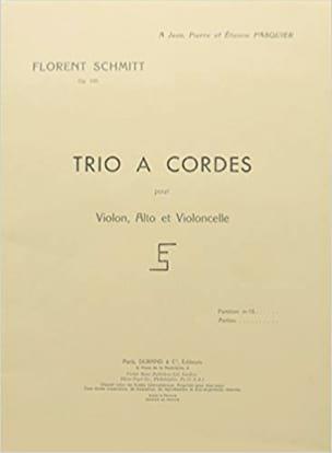 Trio à cordes op. 105 - Parties Florent Schmitt Partition laflutedepan