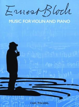Music for violin and piano BLOCH Partition Violon - laflutedepan