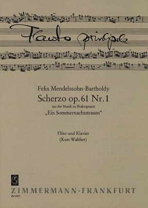Scherzo op. 61 n° 1 - Flöte Klavier MENDELSSOHN Partition laflutedepan