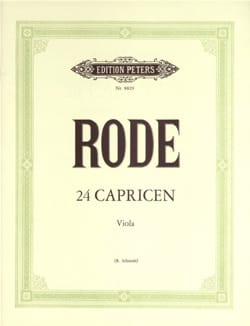 24 Capricen - Viola Schmidt Pierre Rode Partition Alto - laflutedepan
