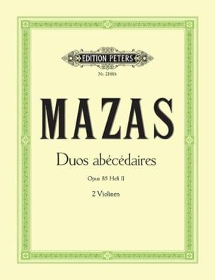 Duos abécédaires op. 85 cahier 2 MAZAS Partition Violon - laflutedepan