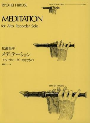 Meditation - Alto recorder solo Ryohei Hirose Partition laflutedepan