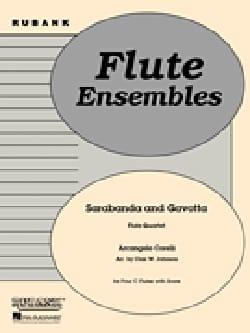 Sarabande and Gavotte - Flute quartet - CORELLI - laflutedepan.com