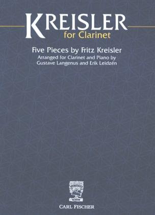 Kreisler for Clarinet KREISLER Partition Clarinette - laflutedepan