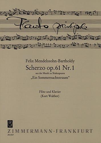 Scherzo op. 61 n° 1 - Flöte Klavier - MENDELSSOHN - laflutedepan.com