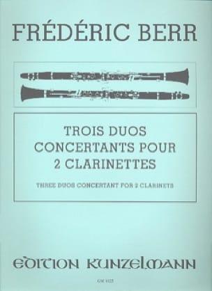 3 Duos Concertants - Friedrich Berr - Partition - laflutedepan.com