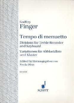 Tempo di Minuetto Gottfried Finger Partition laflutedepan