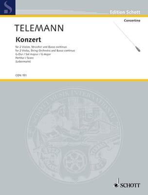 Concerto pour 2 Altos En Sol Majeur TELEMANN Partition laflutedepan