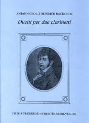Duetti per due clarinetti Johann Georg Heinrich Backofen laflutedepan