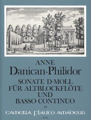 Sonate d-mol - Altblockflöte u. Bc Anne Danican-Philidor laflutedepan