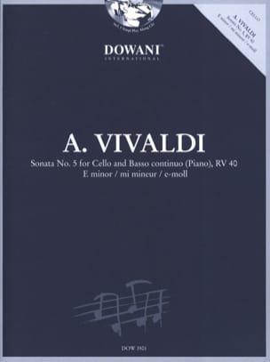 Sonata n° 5 for Cello and Basso Continuo Piano Rv 40 In E Minor laflutedepan