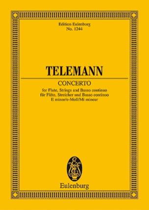 Flöten-Konzert e-moll TELEMANN Partition Petit format - laflutedepan