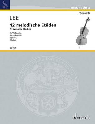 12 Melodische Etüden op. 113 Sebastian Lee Partition laflutedepan