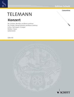 Konzert G-Dur Sol M. - Matériel TELEMANN Partition laflutedepan