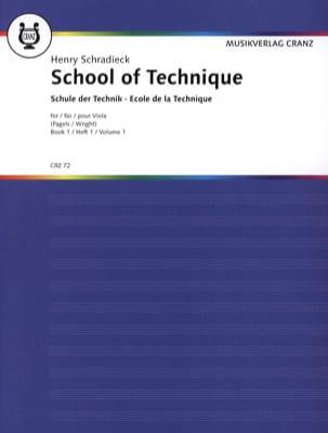 Ecole de la Technique Volume 1 - Alto Henry Schradieck laflutedepan