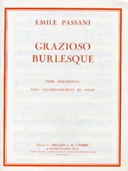 Grazioso burlesque Emile Passani Partition Violoncelle - laflutedepan