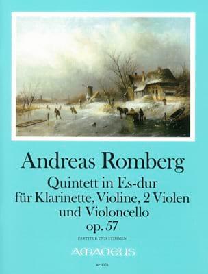 Quintette En Mib Maj. Op. 57 Andreas J. Romberg Partition laflutedepan