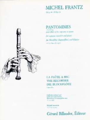 Pantomimes - Michel Frantz - Partition - laflutedepan.com