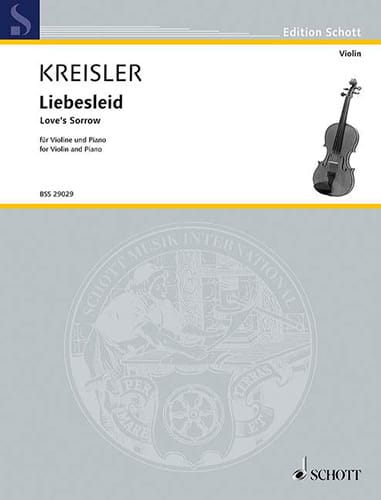 Liebesleid - KREISLER - Partition - Violon - laflutedepan.com