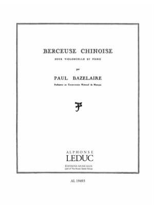 Berceuse chinoise op. 115 Paul Bazelaire Partition laflutedepan