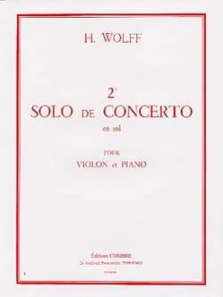 2ème Solo du Concerto en sol H. Wolff Partition Violon - laflutedepan